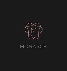 premium linear gradient monogram letter m logotype vector image
