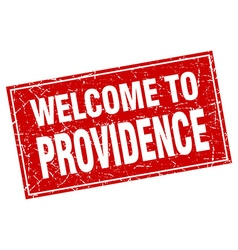 Providence red square grunge welcome to stamp vector