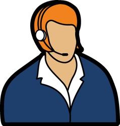 receptionist vector image