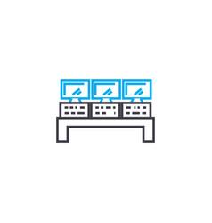 remote control linear icon concept remote control vector image