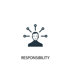 Responsibility icon simple element vector