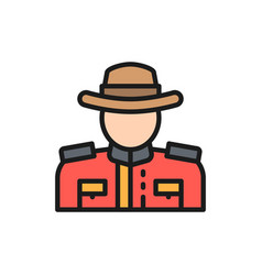 royal canadian mounted police flat color vector image