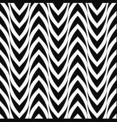 seamless curve pattern zigzag striped vector image