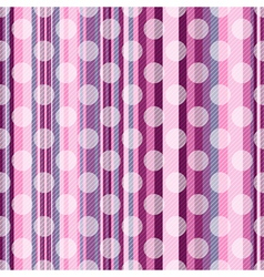 Seamless striped pink pattern vector image