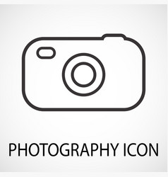 simple photo camera icon vector image