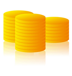 stack pile of golden coins vector image