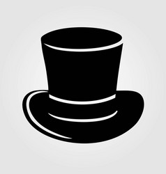 top hat icon isolated on white background vector image