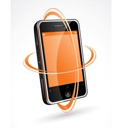 Touchscreen cellphone vector