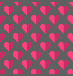 Valentine pattern with hearts vector