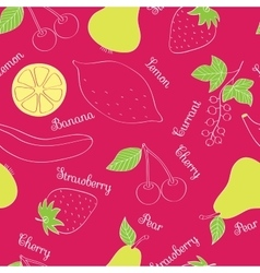 Vegetables and fruits pattern vector
