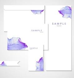 Watercolor card with Purple flower petal vector