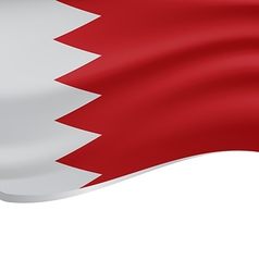 Waving flag of Bahrain isolated on white vector image vector image