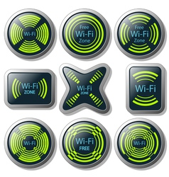 Wireless communication button vector