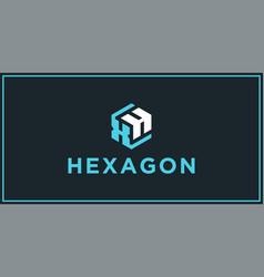 Xh hexagon logo design inspiration vector