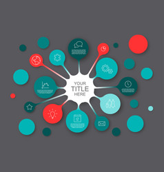 Abstract infographic template with circles vector