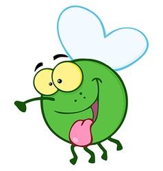 Happy Fly Cartoon Mascot Character vector image vector image
