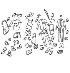men cloth vector image