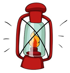 Simple design of camping lamp vector image vector image