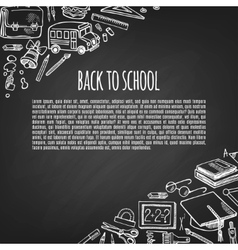 Banner back to school icons design vector image vector image