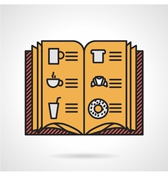 Cafe menu flat icon vector image vector image