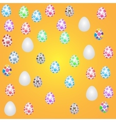 icons flat style Easter eggs vector image
