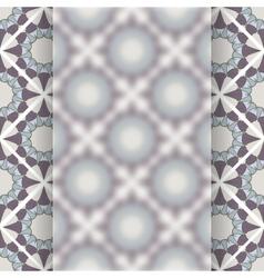 Matt glass over vintage pattern vector image vector image