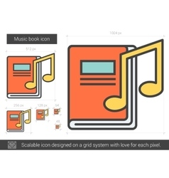 Music book line icon vector image