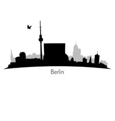Black Berlin silhouette skyline vector image vector image