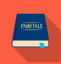 book with fairytales icon in flate style isolated vector image