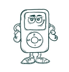 Cartoon Music player vector image