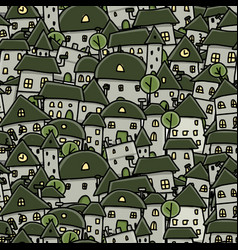 city sketch seamless pattern for your design vector image vector image