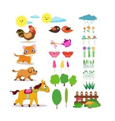 Farm life set vector image