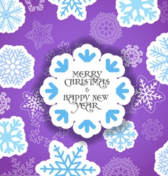 Violet Christmas greeting card vector image vector image