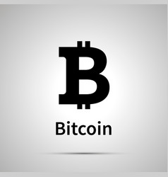 bitcoin cryptocurrency simple black icon vector image vector image