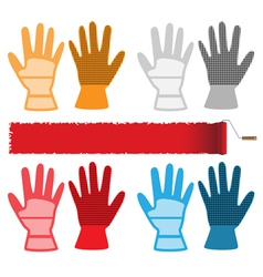 Construction gloves vector image vector image