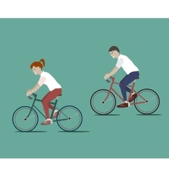 Couple Riding Bicycles vector image