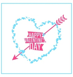 Happy Valentines day greeting or invitation card vector image vector image
