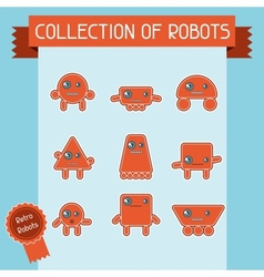 Little abstract robot doodle collection vector image vector image
