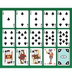 Playing cards of Clubs vector image vector image