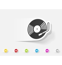 realistic design element turntable vector image vector image