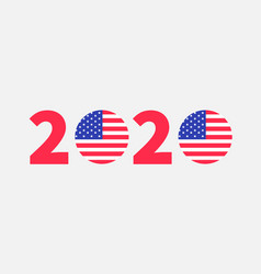 2020 red blue text vote president election day vector image