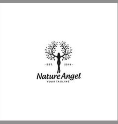 abstract human logo design template vector image