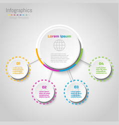 abstract infographics business options template vector image