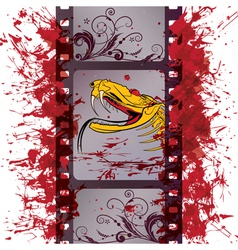 action film strip vector image