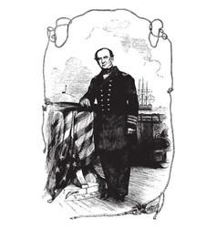 admiral silas h stringham vintage vector image