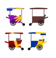 Asian stree food cart vector