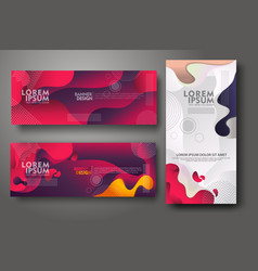 Banner set design template in trendy vibrant vector