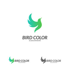 bird logo flying bird logo design template dove vector image