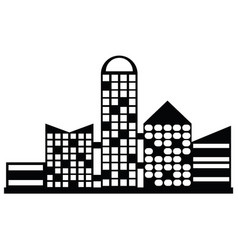 Black city icon vector
