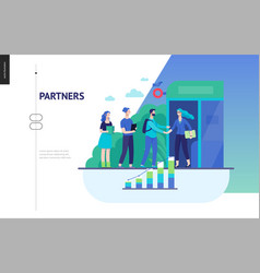 Business series - partners web template vector